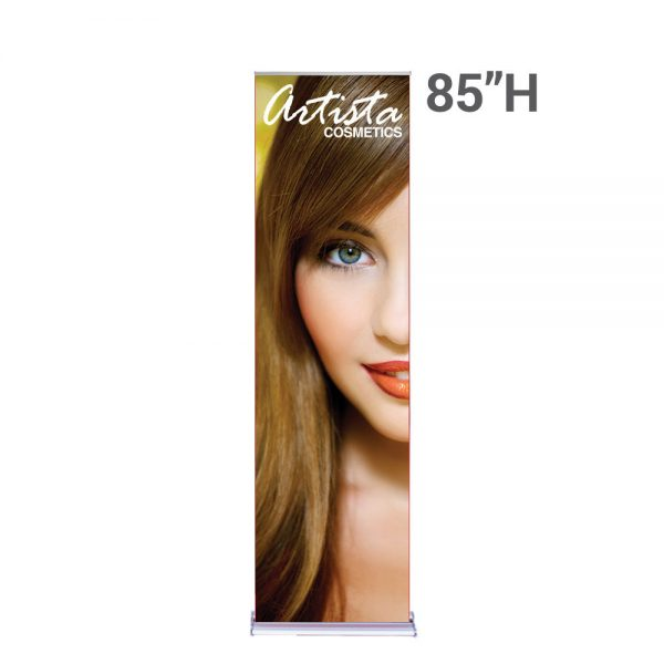 SilverStep Retractable Banner Stand 24″x85H